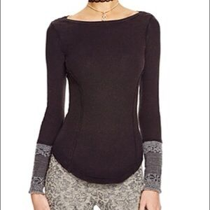 Free people rosy cuff thermal long sleeve small